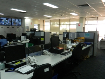 Photo of the open office area at Kensington Police Station